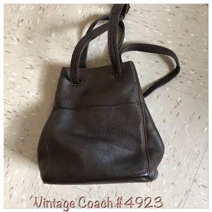 Vintage Coach drawstring natural grain leather